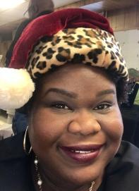 My full look (I was doing a Mary Kay Christmas Vendors table)