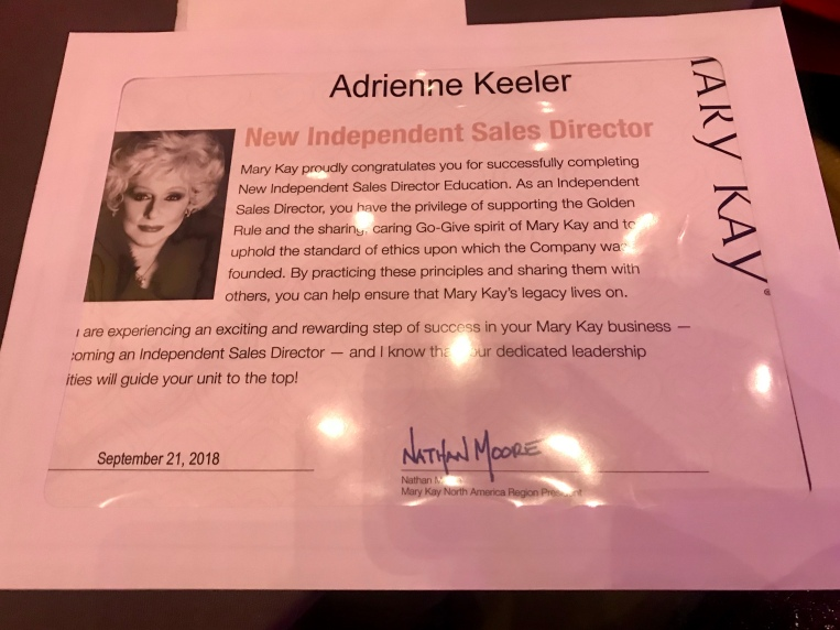 I'm officially a director!
